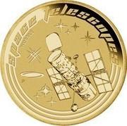 Australia 1 Dollar Space Telescope 2009 KM# 1264 SPACE TELESCOPES HUBBLE P EM coin reverse
