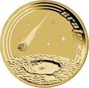 Australia 1 Dollar Space Theme - Craters 2009 KM# 1257 CRATERS DAEDALUS P EM coin reverse
