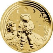 Australia 1 Dollar Space Theme - Moons 2009 KM# 1258 MOONS THE MOON P EM coin reverse