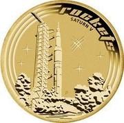 Australia 1 Dollar Space Theme - Rockets 2009 KM# 1260 ROCKETS STURN V P EM coin reverse