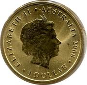Australia 1 Dollar Splendid Wren 2008 KM# 1172 ELIZABETH II AUSTRALIA 2008 1 DOLLAR IRB coin obverse