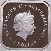 Australia 1 Dollar Summer Season 2013 Proof KM# 1909 ELIZABETH II ∙ AUSTRALIA 2013 ∙ 1 DOLLAR coin obverse