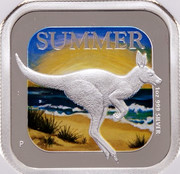 Australia 1 Dollar Summer Season 2013 Proof KM# 1909 SUMMER 1 OZ. 999 SILVER coin reverse