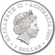 Australia 1 Dollar Sydney 2007 KM# 1185 ELIZABETH II AUSTRALIA 2007 1 DOLLAR IRB coin obverse