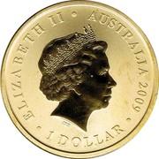 Australia 1 Dollar Sydney 2009 World Master Games 2009 KM# 1657 ELIZABETH II AUSTRALIA 2009 1 DOLLAR coin obverse