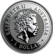 Australia 1 Dollar The Australian Kookaburra 2006 KM# 886a ELIZABETH II AUSTRALIA 1 DOLLAR IRB coin obverse