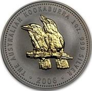 Australia 1 Dollar The Australian Kookaburra 2006 KM# 886a THE AUSTRALIAN KOOKABURRA 1 OZ. 999 SILVER 2006 P RV coin reverse