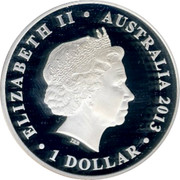 Australia 1 Dollar The Land Down Under 2013 KM# 1918 ELIZABETH II AUSTRALIA 2013 1 DOLLAR IRB coin obverse