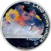 Australia 1 Dollar The Land Down Under 2013 KM# 1918 THE LAND DOWN UNDER 1 OZ 999 SILVER P NM coin reverse