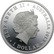 Australia 1 Dollar The Land Down Under - Surfing 2013 KM# 2051 ELIZABETH II AUSTRALIA 2013 1 DOLLAR IRB coin obverse