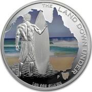 Australia 1 Dollar The Land Down Under - Surfing 2013 KM# 2051 THE LAND DOWN UNDER 1 OZ 999 SILVER P AH coin reverse