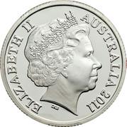 Australia 1 Dollar The Presidents Cup 2011 KM# 1620a ELIZABETH II AUSTRALIA 2011 IRB coin obverse