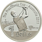 Australia 1 Dollar The Presidents Cup 2011 KM# 1620a THE PRESIDENTS CUP - AUSTRALIA 2011 1 DOLLAR THE PRESIDENTS CUP coin reverse