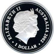 Australia 1 Dollar The Queen's Birthday Parade 2002 KM# 632 ELIZABETH II AUSTRALIA 2002 1 DOLLAR IRB coin obverse
