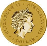 Australia 1 Dollar The Queen's Elizabeth II Coronation 2013 KM# 1944 ELIZABETH II AUSTRALIA 2013 1 DOLLAR IRB coin obverse