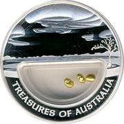 Australia 1 Dollar Treasures of Australia - Gold 2010 KM# 1435 TREASURES OF AUSTRALIA JG coin reverse