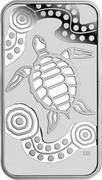 Australia 1 Dollar Turtle Dreaming 2008 KM# 1103 coin reverse