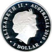 Australia 1 Dollar Victoria 2010 KM# 1452 ELIZABETH II AUSTRALIA 2010 1 DOLLAR IRB coin obverse