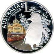 Australia 1 Dollar Victoria 2010 KM# 1452 AUSTRALIA $1 VICTORIA 1 OZ 999 SILVER P EM coin reverse