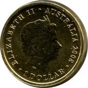 Australia 1 Dollar Wedge-tailed Eagle 2008 KM# 1174 ELIZABETH II AUSTRALIA 2008 1 DOLLAR IRB coin obverse