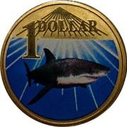 Australia 1 Dollar White Shark 2007 KM# 1026 1 DOLLAR coin reverse