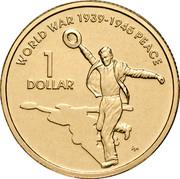Australia 1 Dollar World War II 2005 KM# 747b WORLD WAR 1939-1945 PEACE 1 DOLLAR WP coin reverse