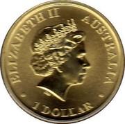 Australia 1 Dollar World Youth Day 2008 KM# 1682 ELIZABETH II AUSTRALIA 1 DOLLAR IRB coin obverse