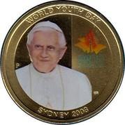 Australia 1 Dollar World Youth Day 2008 KM# 1682 WORLD YOUTH DAY SYDNEY 2008 WYD SYD 08 WORLD YOUTH DAY SYDNEY 2008 P WR coin reverse