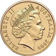 Australia 1 Dollar XVIII Commonwealth Games 2006 KM# 804 ELIZABETH II IRB AUSTRALIA 2006 coin obverse