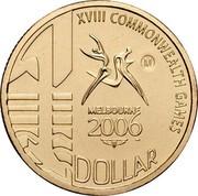 Australia 1 Dollar XVIII Commonwealth Games 2006 KM# 804 XVIII COMMONWEALTH GAMES M MELBOURNE 2006 1 DOLLAR coin reverse