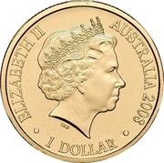 Australia 1 Dollar Year of the Rat 2008 KM# 1056 ELIZABETH II AUSTRALIA 2008 1 DOLLAR IRB coin obverse