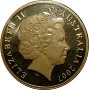 Australia 1 Dollar Year of the Surf Lifesaver 2007 KM# 828 ELIZABETH II AUSTRALIA 2007 IRB coin obverse
