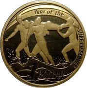 Australia 1 Dollar Year of the Surf Lifesaver 2007 KM# 828 YEAR OF THE SURF LIFESAVER 1 DOLLAR coin reverse