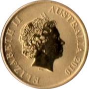Australia $1 Great Barrier Reef 2010 KM# 1384 ELIZABETH II AUSTRALIA 2010 IRB coin obverse