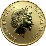 Australia $1 Greater Blue Mountains 2010 KM# 1385 ELIZABETH II AUSTRALIA 2010 IRB coin obverse