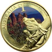 Australia $1 Greater Blue Mountains 2010 KM# 1385 AUSTRALIA $1 GREATER BLUE MOUNTAINS P RV coin reverse