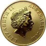 Australia $1 Heard Island & Mcdonald Islands 2010 KM# 1386 ELIZABETH II AUSTRALIA 2010 IRB coin obverse