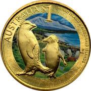 Australia $1 Heard Island & Mcdonald Islands 2010 KM# 1386 AUSTRALIA $1 HEARD ISLAND & MCDONALD ISLANDS P RV coin reverse