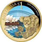 Australia $1 New South Wales 2009 KM# 1098 AUSTRALIA $1 NEW SOUTH WALES P EM coin reverse