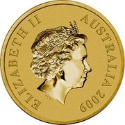 Australia $1 Northern Territory 2009 KM# 1097 ELIZABETH II AUSTRALIA 2009 IRB coin obverse