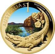 Australia $1 Northern Territory 2009 KM# 1097 AUSTRALIA $1 NORTHERN TERRITORY P EM coin reverse