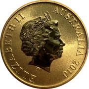Australia $1 Shark Bay 2010 KM# 1387 ELIZABETH II AUSTRALIA 2010 IRB coin obverse