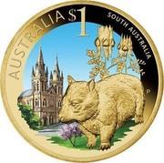 Australia $1 South Australia 2009 KM# 1095 AUSTRALIA $1 SOUTH AUSTRALIA P EM coin reverse