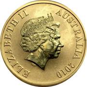 Australia $1 Tasmanian Wilderness 2010 KM# 1388 ELIZABETH II AUSTRALIA 2010 IRB coin obverse