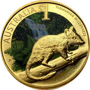 Australia $1 Tasmanian Wilderness 2010 KM# 1388 AUSTRALIA $1 TASMANIAN WILDERNESS P RV coin reverse