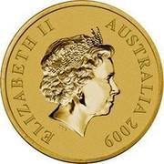 Australia $1 Victoria 2009 KM# 1093 ELIZABETH II AUSTRALIA 2009 IRB coin obverse
