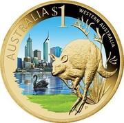 Australia $1 Western Australia 2009 KM# 1092 AUSTRALIA $1 WESTERN AUSTRALIA P EM coin reverse