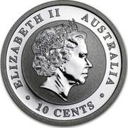 Australia 10 Cents Australian Koala 2013 KM# 1977 ELIZABETH II AUSTRALIA 10 CENTS IRB coin obverse