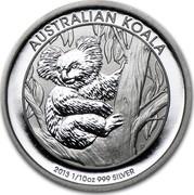 Australia 10 Cents Australian Koala 2013 KM# 1977 AUSTRALIAN KOALA 2013 1/10 OZ 999 SILVER P TV coin reverse