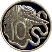 Australia 10 Cents Elizabeth II 4th Portrait - 1966 Decimal Pattern 2009 P Proof KM# 1252 10 coin reverse